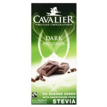 Stevia Dark Chocolate Bar 85g By Cavalier
